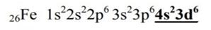 Электронная конфигурация атома железа
